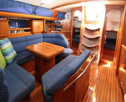 Teak wood interior detailing boat repair